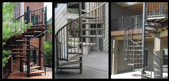 Outdoor Spiral Staircase Benefits