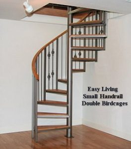 105 Spiral Staircase With Small Body Handrail And Oak Treads