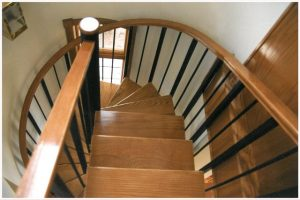 106 Interior Steel Stairs With Small Body Handrail Oak Treads And Straight Spiral Combo