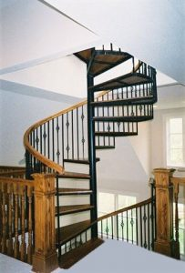 111 Indoor Staircase With Continuous Large Body Handrail Oak Treads