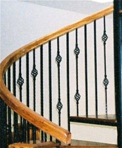 114 Interior Spiral Steel Stairs With Continuous Large Body Handrail Oak Treads