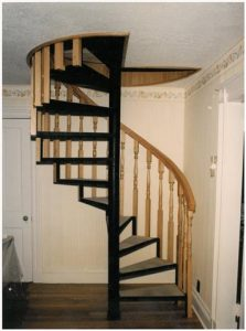 119 Interior Staircase Wood Handrail Balusters