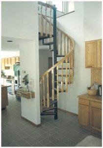 120 Interior Steel Staircase Wood Handrail Balusters