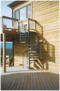 203 Exterior Steel Staircase Pipe Rail