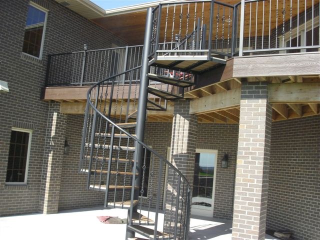 205 Exterior Steel Staircase Steel Trex Treads