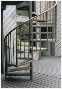 206 Outdoor Steel Staircase Pipe Rail Trex Treads