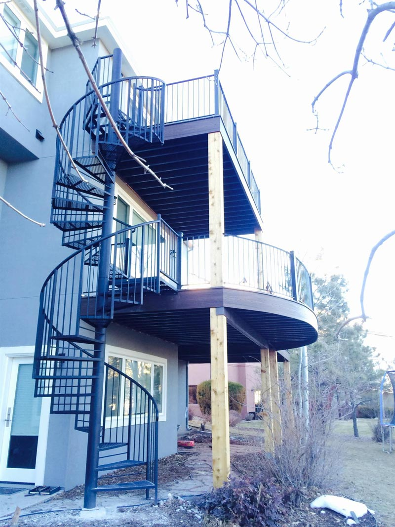 208 Stacking Exterior Steel Staircase Expanded Metal Threads Pipe Rail