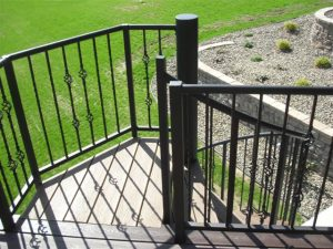 304 Outdoor Steel Stairs Top Pipe Rail