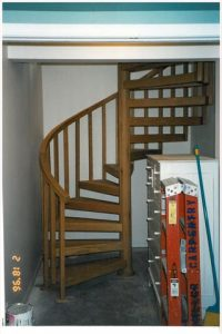 404 Interior Wood Spiral Staircase Wood Square Balusters