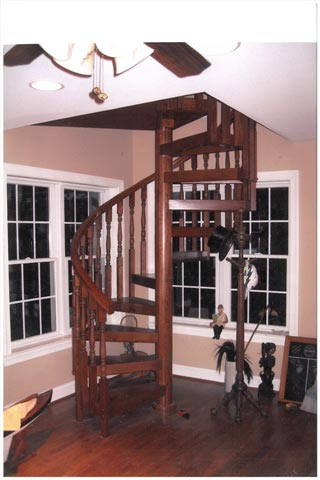 407 Wood Stairs Wood Colonial Square Top Balusters