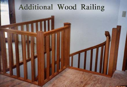 413 Wood Opening Rail Square Balusters