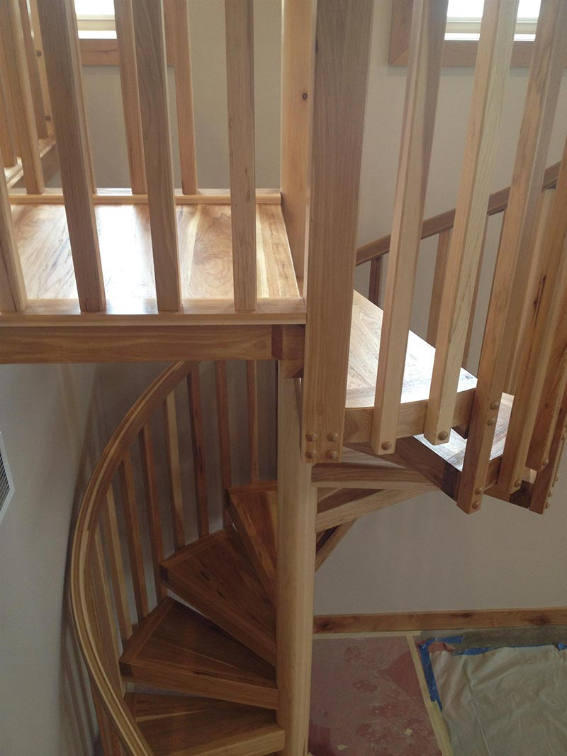 417 Hickory Spiral Staircase
