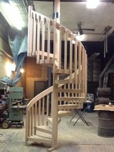 418 Wood Staircase 2x6 Handrail