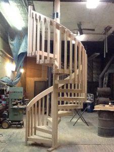 418 Wood Staircase 2x6 Handrail