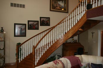 611 Circular Staircase Painted Baluster