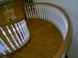 612 Circular Staircase Painted Baluster
