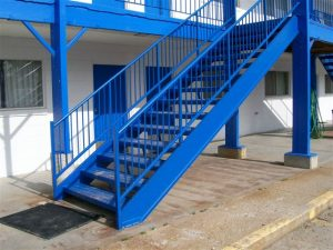 614 Exterior Straight Steel Stairs