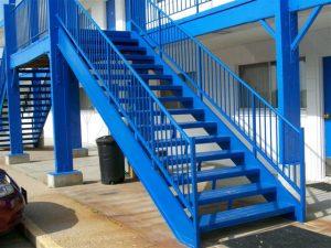 616 Straight Steel Stairs