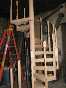 705 Interior Wood Staircase Work In Progress