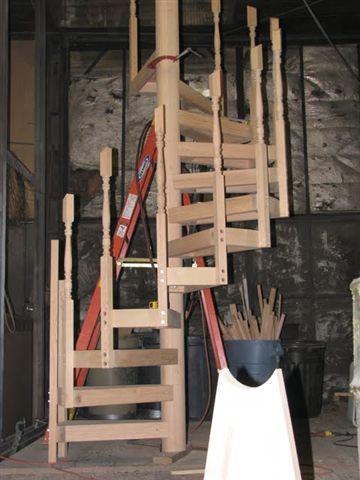 706 Interior Wood Spiral Staircase Work In Progress