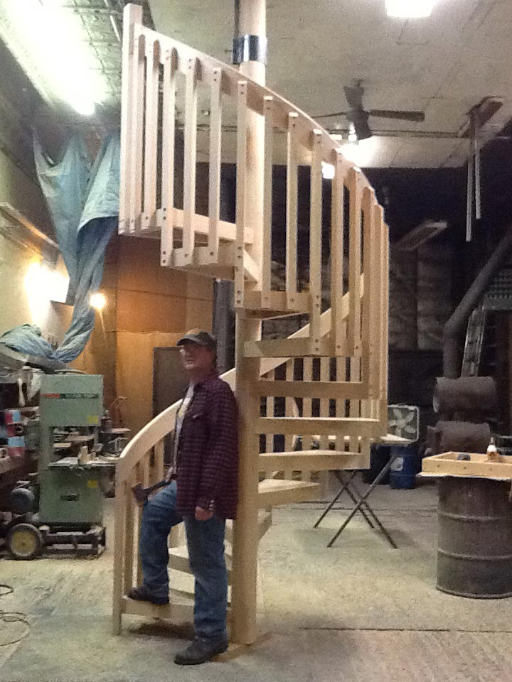 710 Wood Staircase Work In Progress