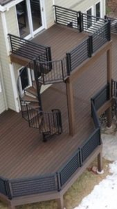 #215 Steel Exterior Spiral w/composit treads to match deck.