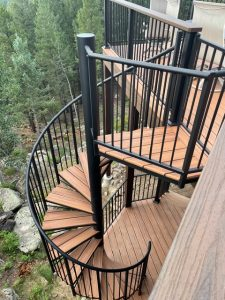 #216 Exterior Steel Spiral Staircase